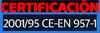 Certificación CE 2001-95